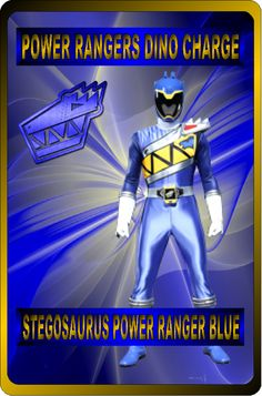 Stegosaurus Power Ranger Blue by rangeranime on @DeviantArt