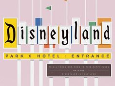 Outstanding illustration of the Disneyland sign by Colin Hesterly! I need to go back some day. Disneyland_sign_dribbbleready