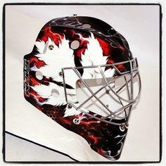 HFBoards - NHL Message Board and Forum for National Hockey League Goalie Gear, Hockey Helmet, Hockey Gear, Goalie Mask, Hockey Goalie, Ice Hockey, Hockey Stuff, Helmet Design, Mask Design