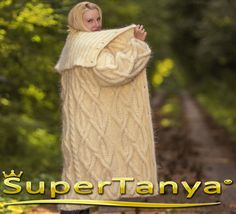 Made to order hand knit mohair cardigan in ivory cream fuzzy