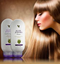 Aloe Jojoba Shampoo..  Al vele jaren staat de combinatie van aloë vera en de olie van de jojobaboon bekend als een uitste kende, natuurlijke verbinding voor haarverzorging. Op deze basis heeft Forever een milde shampoo ontwikkeld voor elk haartype. Dankzij de concen tratie van rijke voedingsstoffen beschermt, voedt en verzacht deze crèmeshampoo het haar.  # Milde reinigende shampoo # Voedende en beschermende werking  # Geschikt voor alle haartypes   Aloe Jijoba Conditioning...  Aloe…