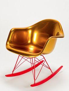 Gold Eames Rocker