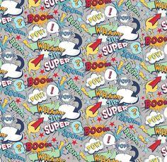 e3674071c6a Riley Blake Super Hero Collection Cartoon by printstopolkadotsuk