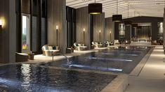 Luxury Swimming Pools, Luxury Pools, Indoor Swimming Pools, Dream Pools, Swimming Pool Designs, Hotel Pool, Hotel Spa, Piscina Interior, Castle House