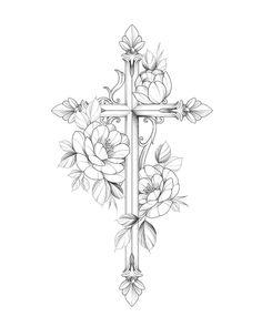 Small Cross Tattoos, Cross Tattoos For Women, Tattoos For Women Half Sleeve, Small Tattoos, Sleeve Tattoos, Dainty Tattoos, Feminine Tattoos, Dope Tattoos, Mini Tattoos