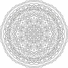 Mandala nr 2 for coloring