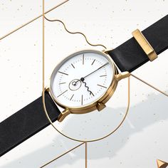 The Tide watch combines contemporary minimalism with traditional luxury. The timepiece is a reference to the rise and fall of the sea caused by the pull of the moon and sun.