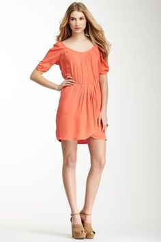 Joie Sione Bow Back Dress Peach Dress #clothes #maria257893 #PeachDress #Peach #Dresses #topdress   www.2dayslook.com