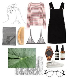 """how to be happier"" by amsbullock on Polyvore featuring Wood Wood, Boohoo, Le Labo, Aesop, Cosabella, Acne Studios, Ray-Ban, Nixon and Vans"