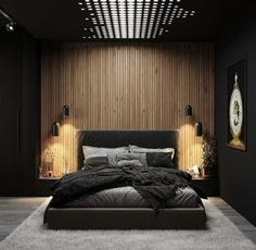 Luxury Small Bedroom Design And Decorating For Comfortable Sleep Ideas « Black Bedroom Design, Master Bedroom Interior, Room Design Bedroom, Home Room Design, Dream Bedroom, Home Decor Bedroom, Bedroom Ideas, Bedroom Black, Black Bedrooms