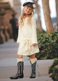 CWDkids Cream Lace Lucille Dress