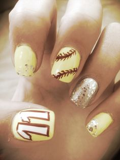 Softball nails great 4 all sports like Basketball 4 me!!⚾
