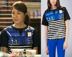 """Uhm Jung Hwa in """"Witch's Romance"""" Episode 9.  Fay Blue Striped Snoopy Top - NPWB228534QIAH998S #Kdrama #WitchsRomance #마녀의연애 #UhmJungHwa #엄정화 Uhm Jung Hwa, Korean Drama, Dramas, Witch, Romance, Clothes, Tops, Women, Style"""