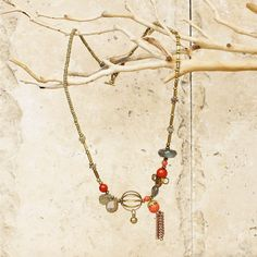 Necklace Mixed Metal/Stone