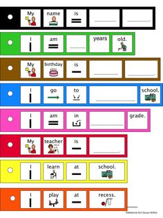 Speech Therapy Sentence Strips for school classroom. Practice extending sentences. Autism. Boardmaker icons. #speechtherapy #autism #sentencestrips Repinned by SOS Inc. Resources pinterest.com/sostherapy/.