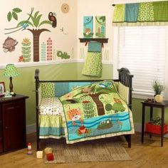 Rainforest N Friends Bedding By Cocalo Forest Baby Crib 9972set