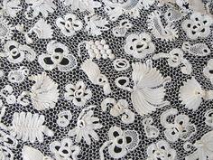 Maria Niforos - Fine Antique Lace, Linens & Textiles : Antique & Vintage Clothing # CL-34 Circa 1900, Opulent Irish Crochet Ensemble