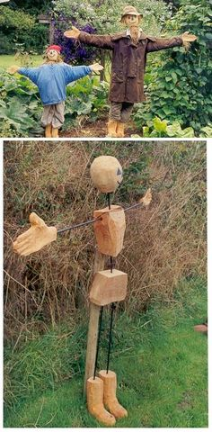 I need a scarecrow in my garden...I like the one in the brown coat.