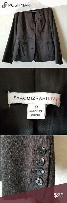Isaac Mizrahi Live Coat Grey Blazer style cost. Excellent condition. Isaac Mizrahi Jackets & Coats Blazers
