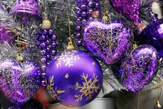 Image detail for -... colored Christmas Decoration Baubles with texture on a christmas tree