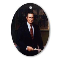 George H. W. Bush Christmas Ornament