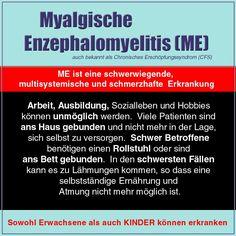 Auf Deutsch:  Es gibt mehr Bilder an https://www.facebook.com/media/set/?set=a.226413154126842.37146.223472531087571&type=3  #ChronischeErschöpfungssyndrom #MyalgischeEnzephalomyelitis