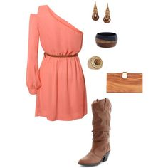 Country dressed up.love the coral color! Country Girl Style, Country Girls, My Style, Country Bumpkin, Country Chic, Country Dresses, Country Outfits, Summer Wedding Outfits, Wedding Attire