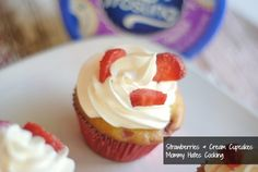 Strawberries & Cream Cupcakes (Perfect for Memorial Day and Gluten Free Friendly!)