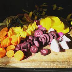 Rainbow veg for Sunday roast.