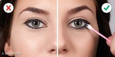 These 10 Mistakes Don't Let You to Do Winged Eyeliner Right Perfect Winged Eyeliner, How To Apply Eyeliner, How To Apply Makeup, Applying Makeup, Highlighter Makeup, Contour Makeup, Makeup Geek, Eye Makeup, Makeup Storage Organization