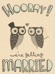 Quirky owl wedding invitation printables.. $30.97, via Etsy.