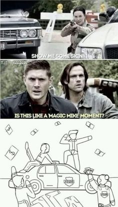 I saw Cas in the corner and just died