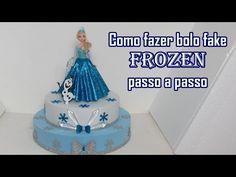 Como fazer Bolo Fake Frozen passo a passo - YouTube