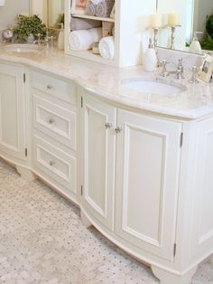 white w/ white counter top Image detail for -Vanities For Small Bathrooms Design, Pictures, Remodel, Decor and ...