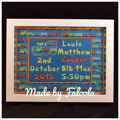 Birth frame 7x9inch - The Supermums Craft Fair