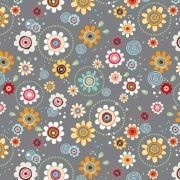 Groove Flowers Grey - for the next quilt?