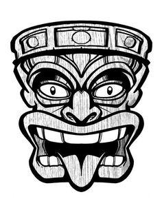 Resultado de imagen de Tiki Mask Clip Art