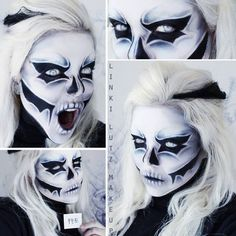 Awesome skull death makeup