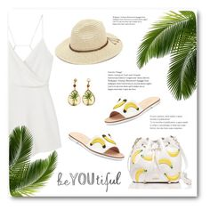 """""""""""K"""" is for Kate Spade"""" by bliznec ❤ liked on Polyvore featuring Kate Spade, MANGO and San Diego Hat Co."""