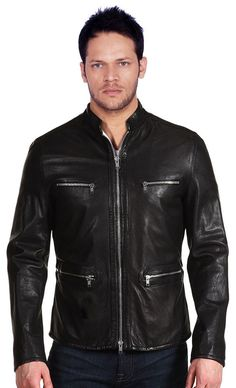 Leather jackets Men's New Genuine Soft Ship Skin Leather New Collection N53 #NationalLeatherGoods #FlightBomber