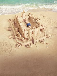 sand castle and boy shot in studio, comped together Advertising Poster, Advertising Ideas, Banana Boat, New Year's Eve Celebrations, Texture Images, Summer Design, Art Classroom, Print Ads, Dream Big