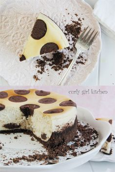 Curly Girl Kitchen: Nutella Polka Dot Cheesecake, with a Chocolate Hazelnut Crust