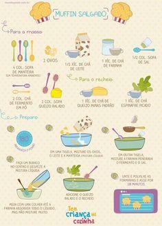 Muffin salgado. | 13 receitas ilustradas que vão te inspirar a ir para a cozinha