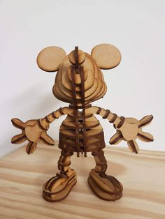 Mickey Mouse Puzzle Figure by WoodieDesign on Etsy 3d Puzzles, Mickey Mouse, Custom Design, Etsy Shop, Unique Jewelry, Handmade Gifts, Animals, Kid Craft Gifts, Craft Gifts