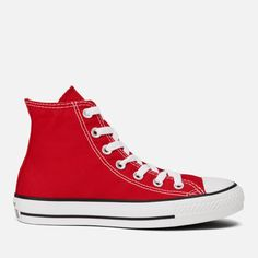 Converse Unisex Chuck Taylor All Star Canvas Hi-Top Trainers - Red 3e8906030