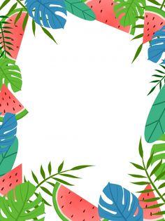 Watermelon Background, Watermelon Plant, Plant Cartoon, Slogan Design, Summer Fresh, Luau Party, Border Design, Screen Wallpaper, Sticky Notes