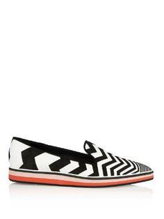 Suede chevron contrast loafers | Nicholas Kirkwood | MATCHESFASHION.COM