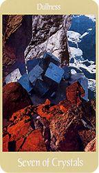 Seven of Crystals from the Voyager Tarot at TarotAdvice
