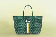 Goyard Is Releasing Exclusive Snoopy-Inspired Handbags Goyard Bag, Tote Bag, Famous Cartoons, Cartoon Dog, Staple Pieces, Snoopy, Handbags, Pattern, Peanuts
