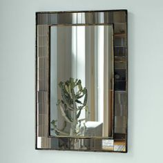 Mirror, mirror on the wall...Antique Tiled Wall Mirror